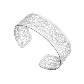 Sterling Silver Cut-Out Torque Bangle - Product number 4892828