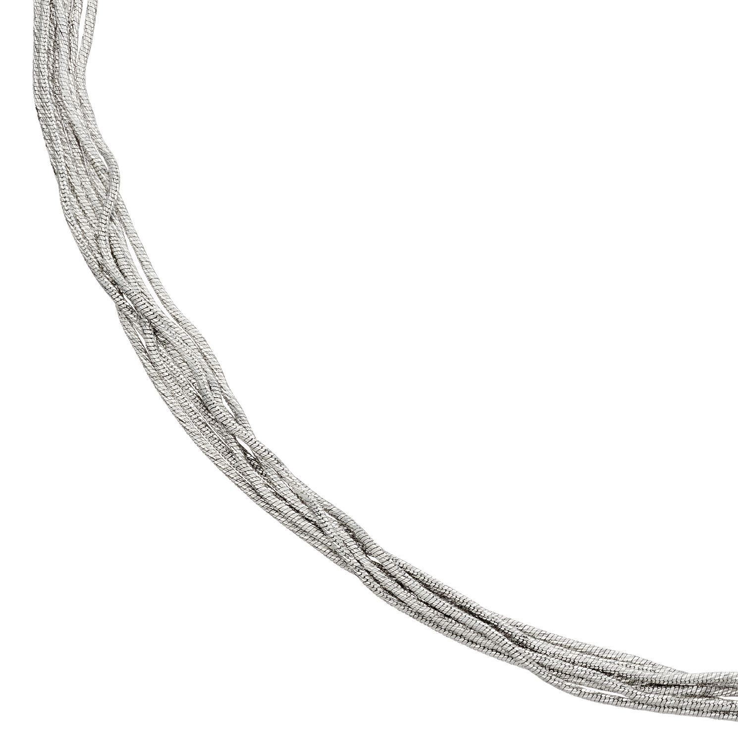 Sterling Silver Diamond-Cut Multi-Strand Necklace - Product number 4893034