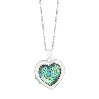 Sterling Silver Abalone Heart Locket - Product number 4893158