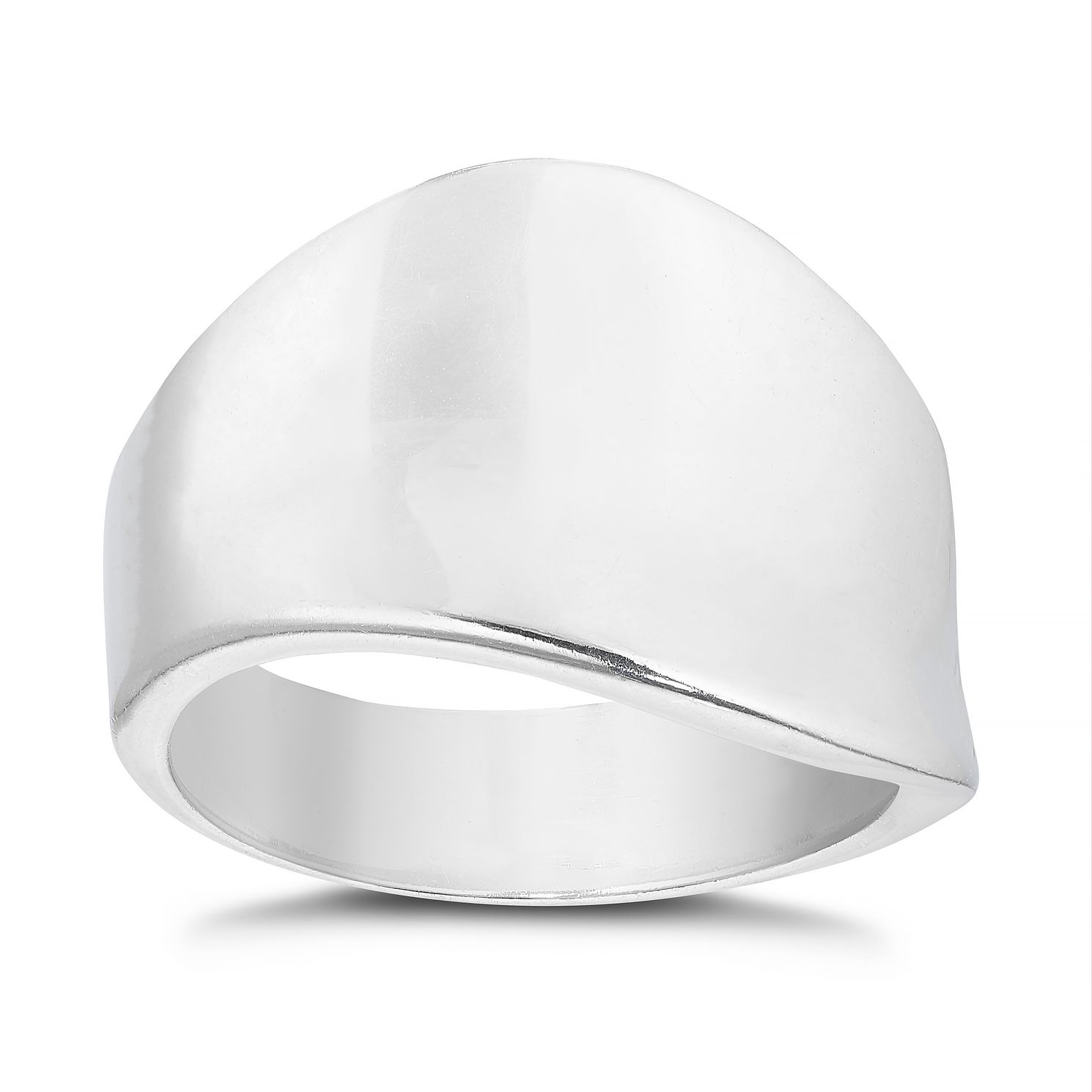Sterling Silver Plain Wave Ring - Product number 4893646