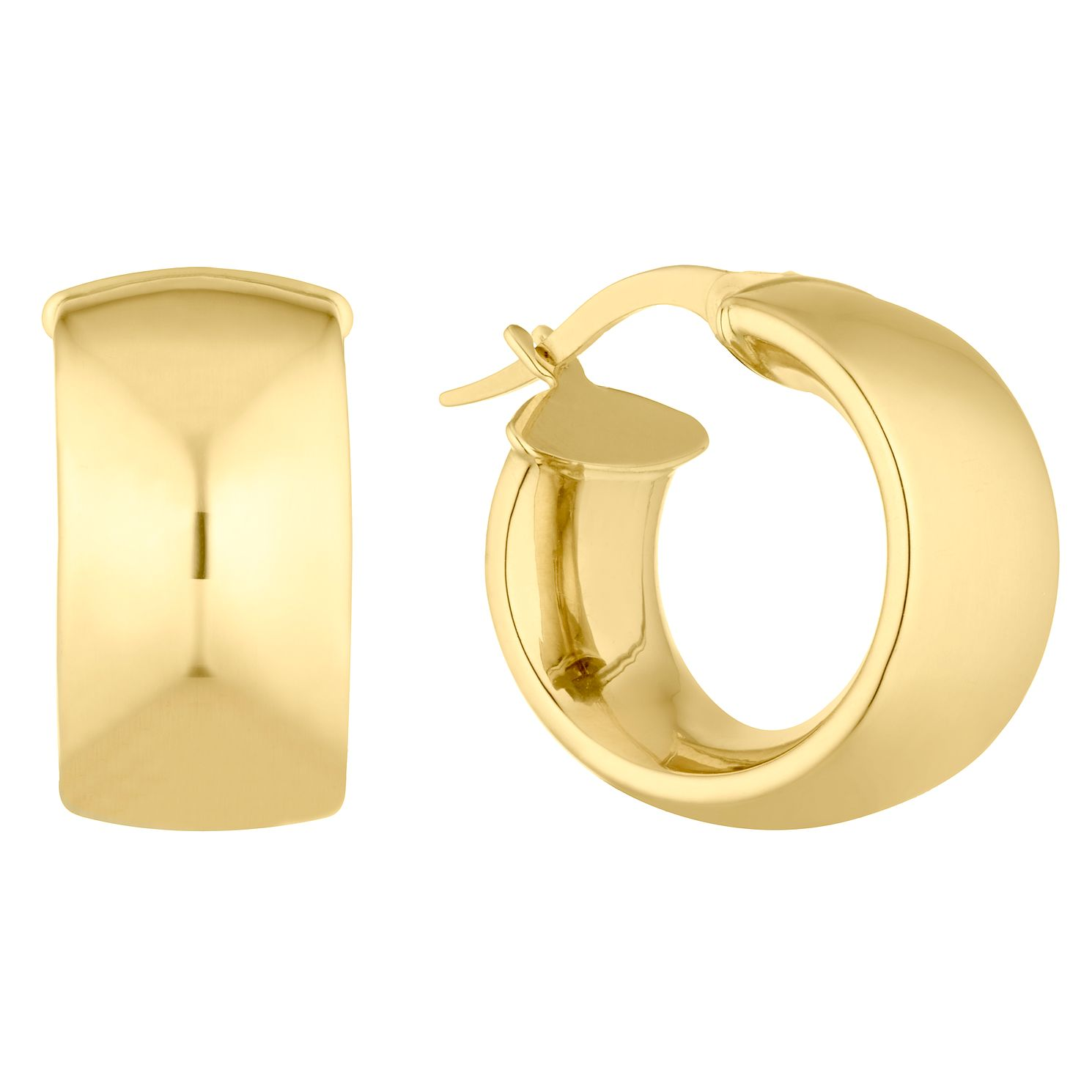 9ct Yellow Gold Chunky Hoop Earrings - Product number 4897307
