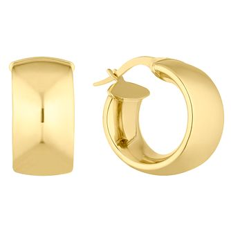 9ct Yellow Gold Chunky Creole Hoop Earrings - Product number 4897307