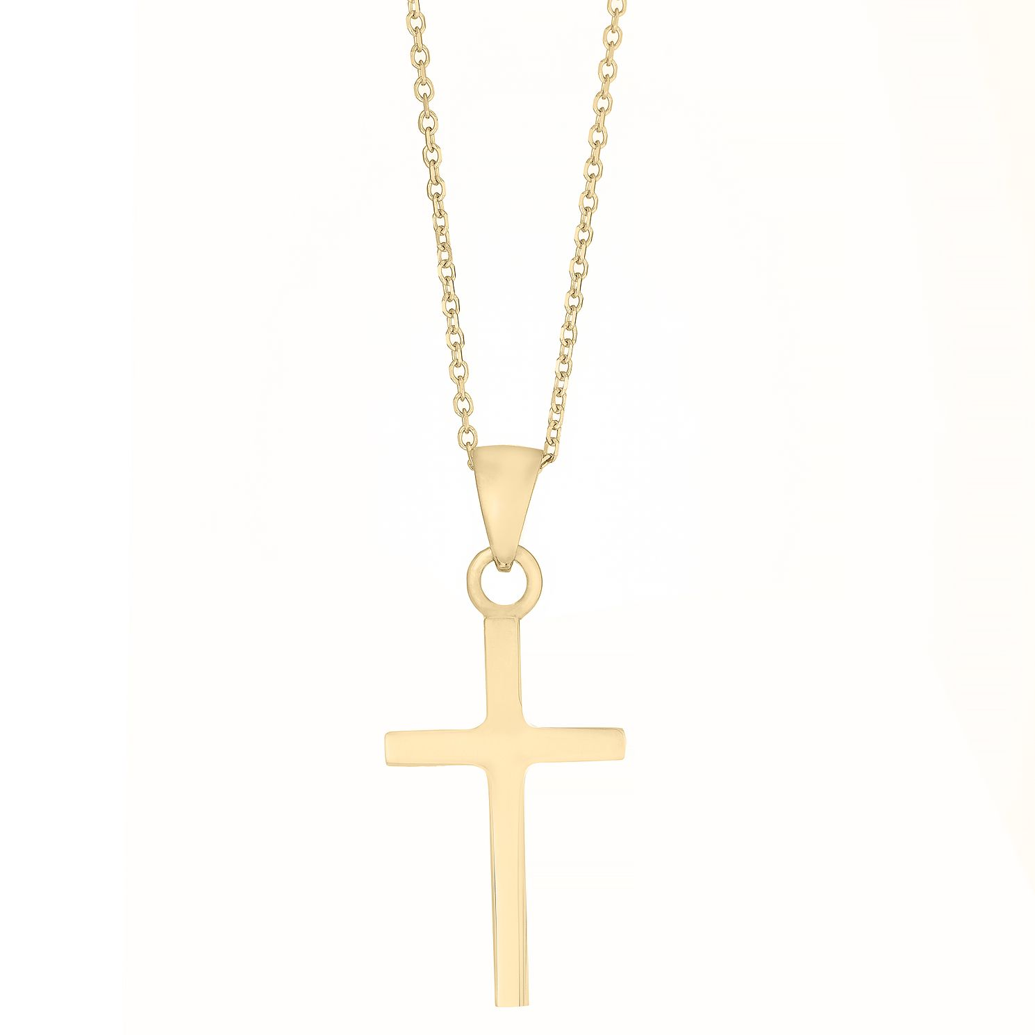9ct Yellow Gold Plain Cross Pendant - Product number 4897528