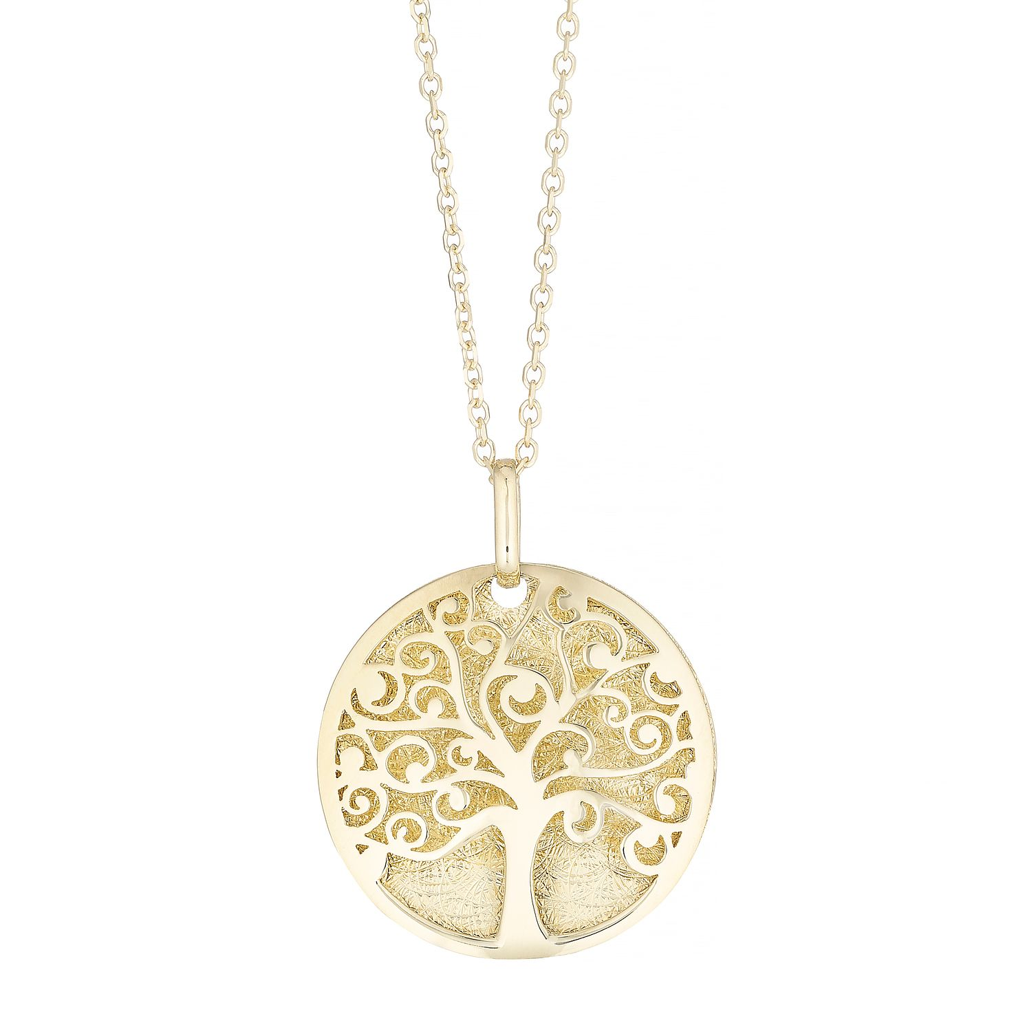 9ct Yellow Gold Tree Of Life Disc Pendant - Product number 4898060