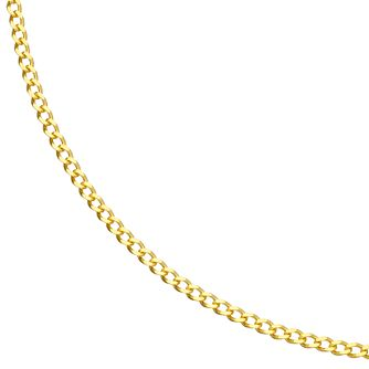 9ct Yellow Gold Solid Curb Chain Necklace - Product number 4898095
