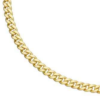 "9ct Yellow Gold 18"" Solid Curb Chain - Product number 4898109"