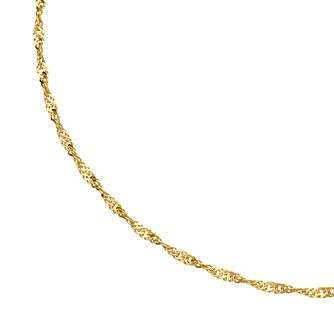 9ct Gold Single Twist Chain Anklet - Product number 4898257