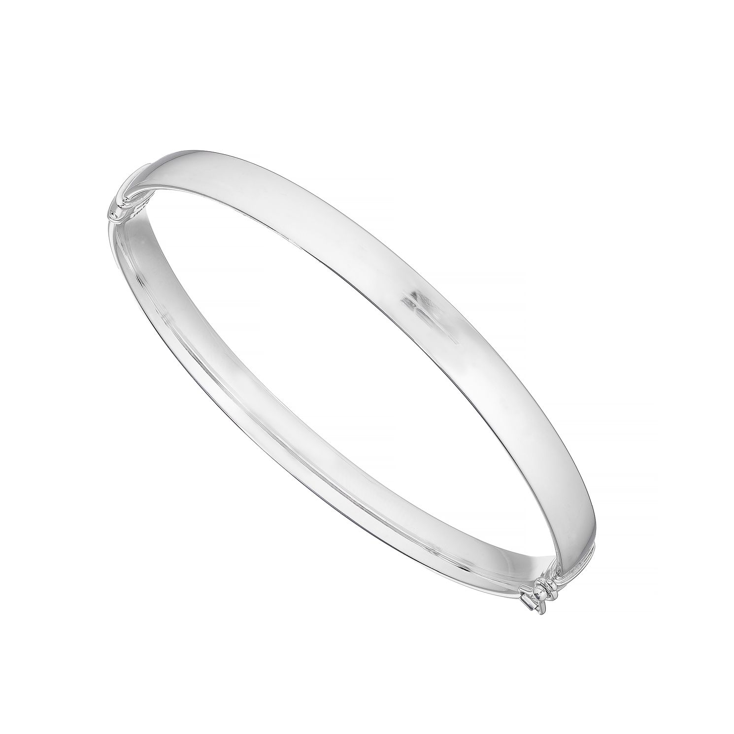 9ct White Gold Plain Bangle - Product number 4898338