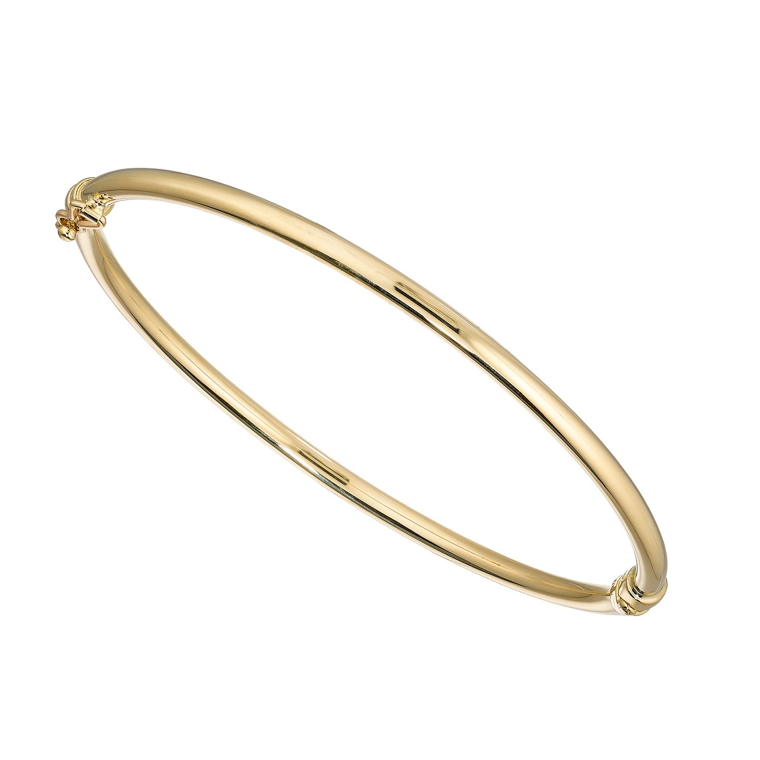 9ct Yellow Gold Plain Hinged Bangle - Product number 4898354