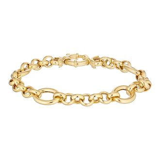 9ct Yellow Gold Belcher Chain Bracelet - Product number 4898362