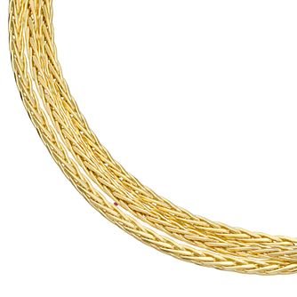 9ct Yellow Gold Triple Strand Bracelet - Product number 4898397
