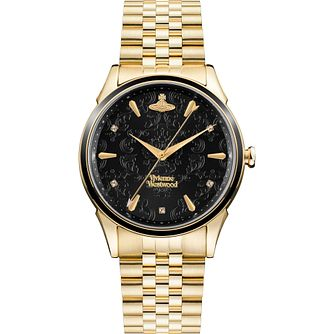 Vivienne Westwood Wallace Yellow Gold Tone Bracelet Watch - Product number 4898451