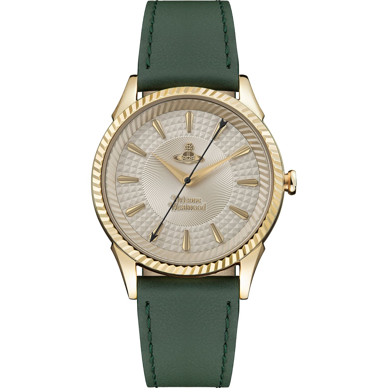 Vivienne Westwood Seymour Ladies' Green Leather Strap Watch - Product number 4898516