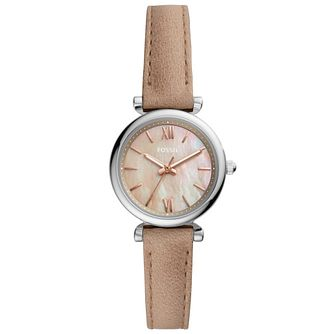Fossil Ladies' Stainless Steel Mother of Pearl Strap Watch - Product number 4898524