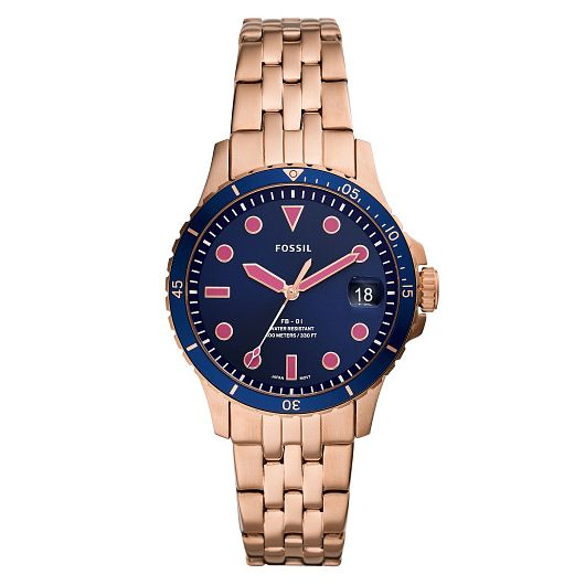 Fossil Ladies' Rose Gold Tone Stainless Steel Bracelet Watch - Product number 4898532