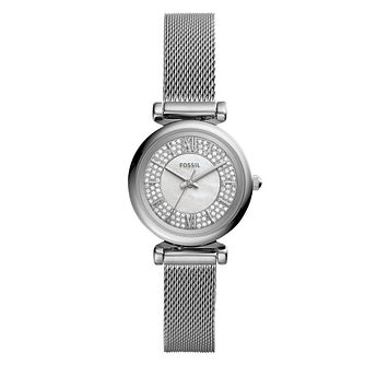 Fossil Ladies' Stainless Steel Crystal Bracelet Watch - Product number 4898559