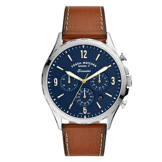 Fossil Forrester Chrono Men's Brown Leather Strap Watch - Product number 4899121