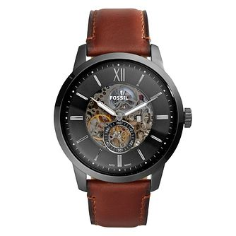 Fossil Men's Townsman Skeleton Leather Strap Watch - Product number 4899229