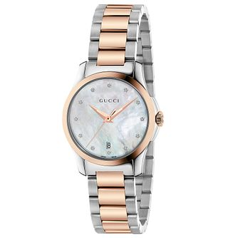 Gucci G-Timeless Diamond Two Tone Bracelet Watch - Product number 4899326