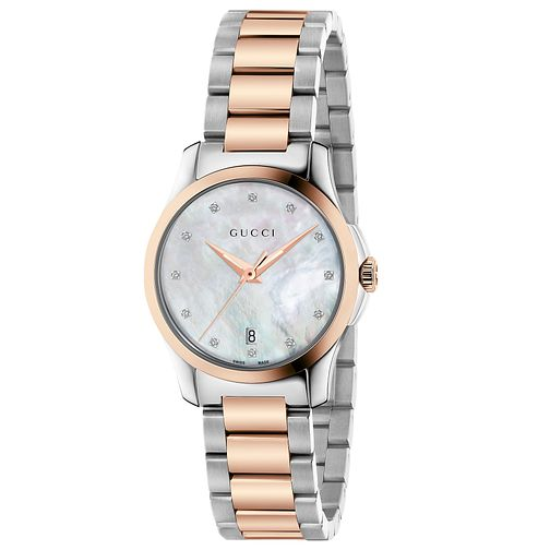 Gucci G-Timeless Diamond Two-Tone Bracelet Watch - Product number 4899326