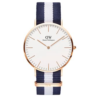 Daniel Wellington Glasgow Men's Blue & White Watch - Product number 4899369