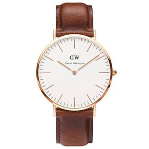 Daniel Wellington St Mawes Men's Brown Leather Strap Watch - Product number 4899385