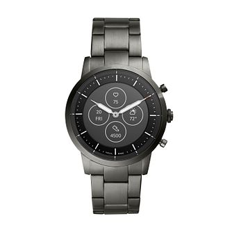 Fossil Smartwatches Collider HR Grey IP Bracelet Watch - Product number 4899393