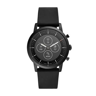 Fossil Smartwatches Collider HR Black Silicone Strap Watch - Product number 4899407