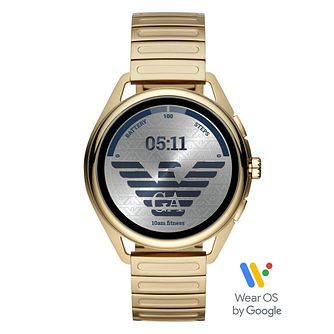 Emporio Armani Connected Gen 5 Yellow Gold Tone Smartwatch - Product number 4899423