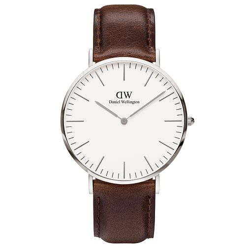 Daniel Wellington Bristol Men's Brown Leather Strap Watch - Product number 4899504