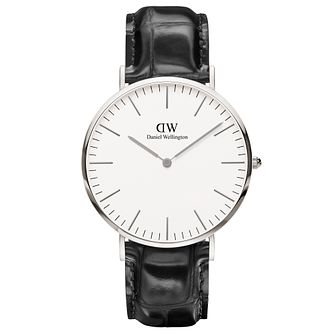 Daniel Wellington Reading Men's Black Leather Strap Watch - Product number 4899571
