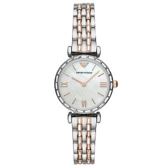 Emporio Armani Ladies' Two Tone Bracelet Watch - Product number 4900235