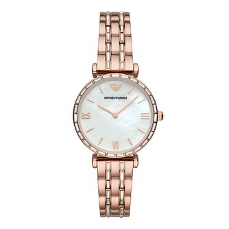 Emporio Armani Ladies' Rose Gold Tone Bracelet Watch - Product number 4900286