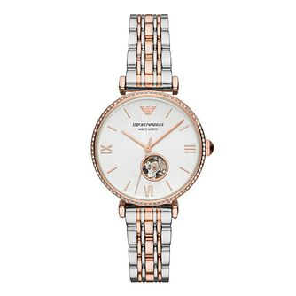 Emporio Armani Ladies' Two Tone Bracelet Watch - Product number 4900359