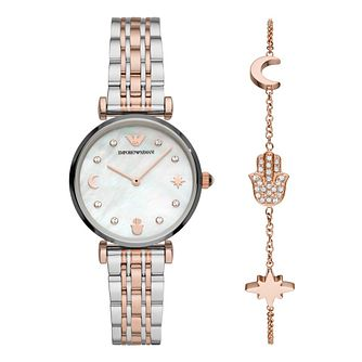 Emporio Armani Ladies' Two-Tone Watch & Bracelet Gift Set - Product number 4900421