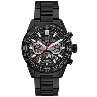 TAG Heuer Carrera 02 Men's Black Ceramic Bracelet Watch - Product number 4900545