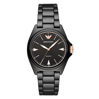 Emporio Armani Men's Black Ceramic Bracelet Watch - Product number 4901207