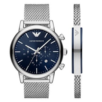 Emporio Armani Men's Stainless Steel Mesh Bracelet Watch - Product number 4901215