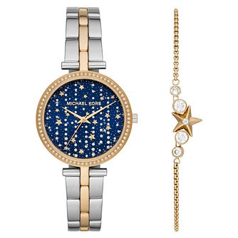 Michael Kors Maci Ladies' Two Tone Watch & Bracelet Gift Set - Product number 4901649