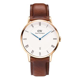 Daniel Wellington Dapper St Mawes Men's Leather Strap Watch - Product number 4901762