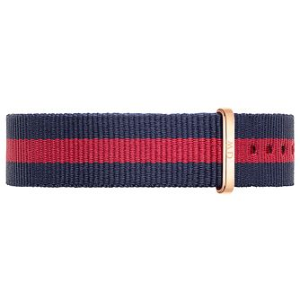 Daniel Wellington Oxford Ladies' Navy & Red NATO Strap - Product number 4901959