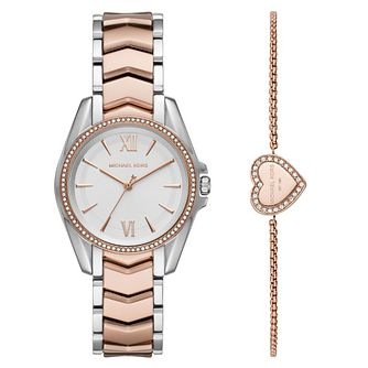 Michael Kors Whitney Two Tone Watch & Bracelet Gift Set - Product number 4901983