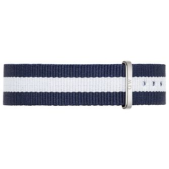 Daniel Wellington Glasgow Ladies' Navy & White NATO Strap - Product number 4902025