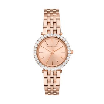 Michael Kors Darci Ladies' Rose Gold Tone Bracelet Watch - Product number 4902807