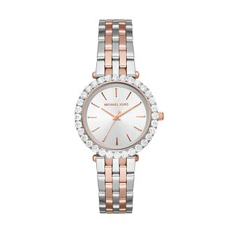 Michael Kors Darci Ladies' Two Tone Crystal Bracelet Watch - Product number 4902815