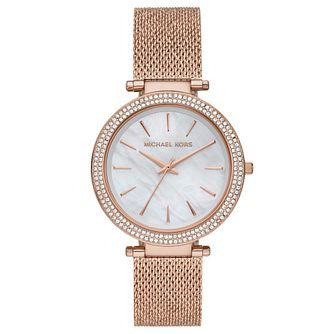 Michael Kors Darci Ladies' Rose Gold Tone Bracelet Watch - Product number 4902831