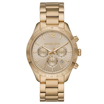 Michael Kors Oversized Layton Ladies' Gold Tone Watch - Product number 4902882