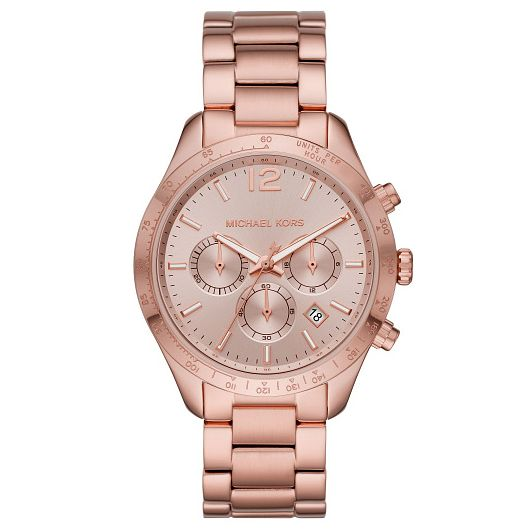 Michael Kors Layton Ladies' Rose Gold Tone Bracelet Watch - Product number 4902947