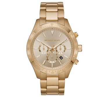 Michael Kors Layton Men's Yellow Gold Tone Bracelet Watch - Product number 4903137
