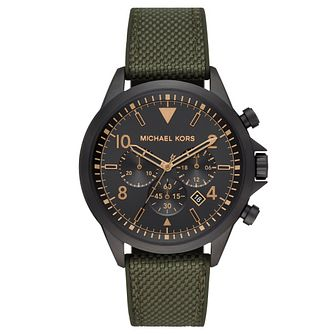 Michael Kors Gage Chronograph Black Strap Watch - Product number 4903285